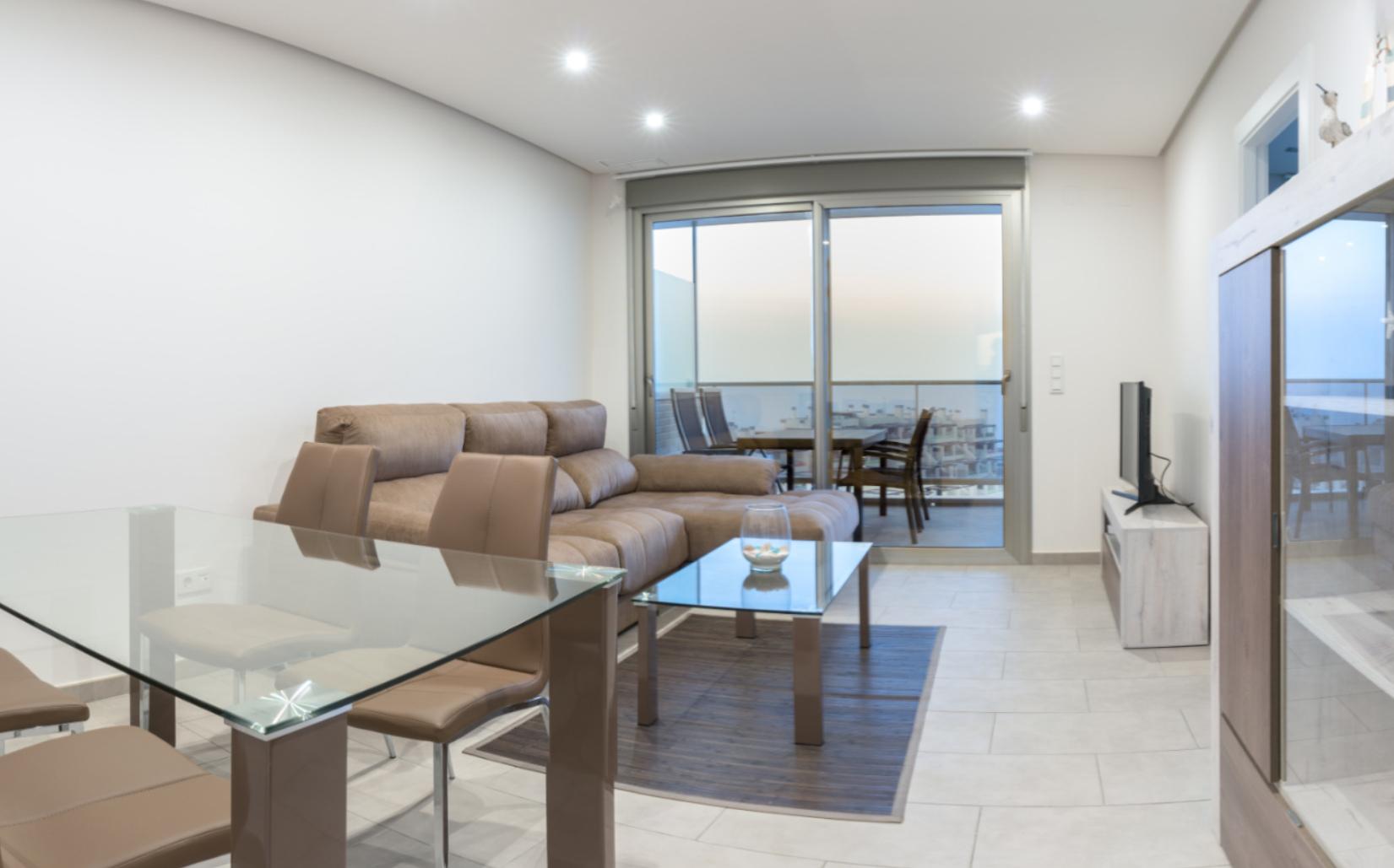 Wohnzimmer Appartment El Faro